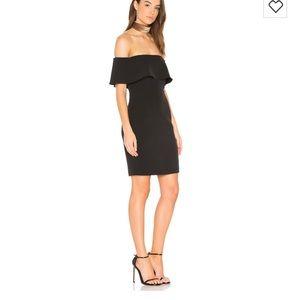 Bardot Black strapless off shoulder dress